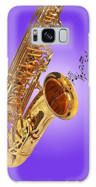 Sounds Of The Sax In Purple Galaxy Case