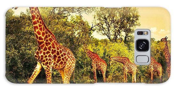 South African Giraffes Galaxy Case