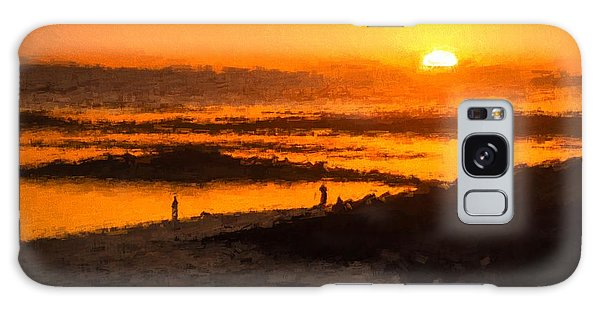 Fairy Pools Galaxy Case - South Beach Sunset    Rvr by Ray Warren