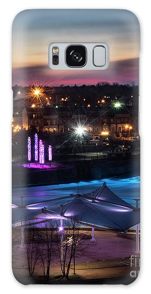 South Bend River Sunrise Galaxy Case