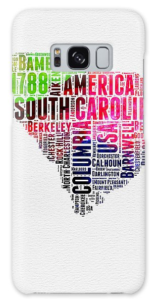 Usa Galaxy Case - South Carolina Watercolor Word Cloud by Naxart Studio