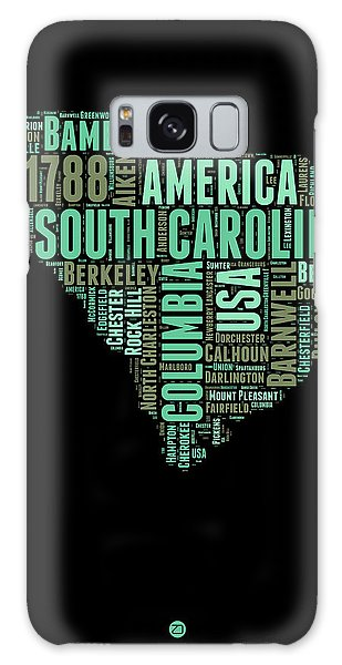 Usa Galaxy Case - South Carolina Word Cloud 2 by Naxart Studio