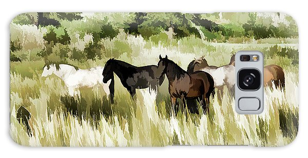 South Dakota Herd Of Horses Galaxy Case by Wilma Birdwell