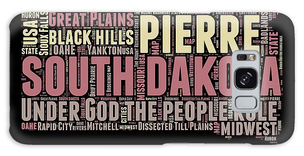 Usa Galaxy Case - South Dakota Word Cloud 2 by Naxart Studio