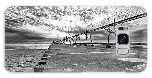 South Haven Pier Wide Angle Galaxy Case