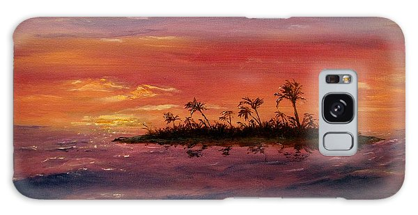 South Pacific Atoll Galaxy Case by Jack Skinner