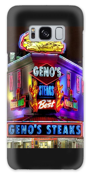 South Philly Skyline - Geno's Steaks-1 - Ninth And Passyunk In South Philadelphia Galaxy Case
