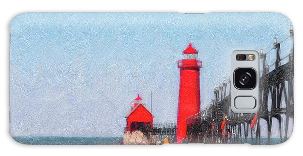 Pier Galaxy Case - South Pier Of Grand Haven by Tom Mc Nemar