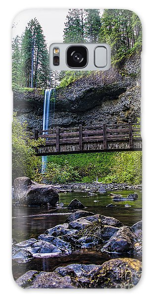 South Silver Falls With Bridge Galaxy Case by Darcy Michaelchuk