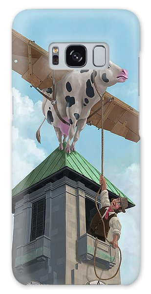 Southampton Cow Flight Galaxy Case by Martin Davey