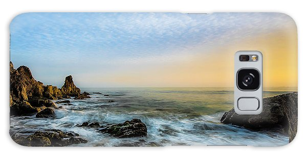 Sea Stacks Galaxy Case - Southern California Sunset by Larry Marshall