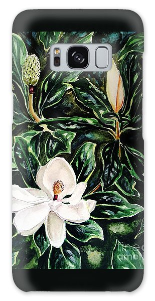 Southern Magnolia Bud And Bloom Galaxy Case