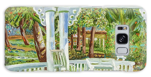 Southern Porches Galaxy Case by Margaret Harmon