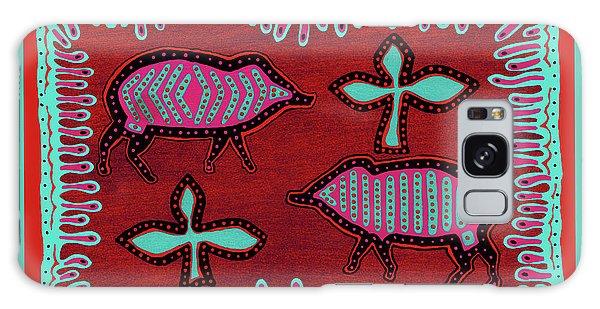 Galaxy Case featuring the digital art Southwest Desert Javelina by Vagabond Folk Art - Virginia Vivier