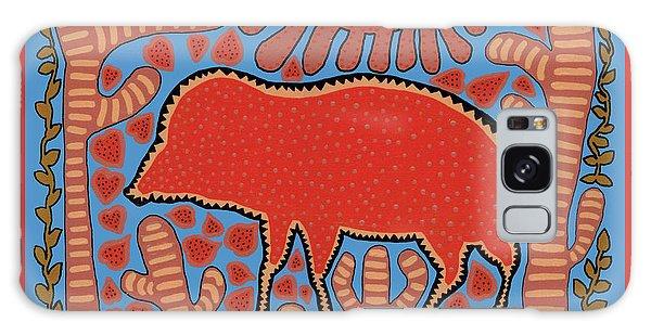 Galaxy Case featuring the digital art Southwest Desert Wart Hog by Vagabond Folk Art - Virginia Vivier