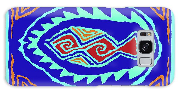 Galaxy Case featuring the digital art Southwest Pescado by Vagabond Folk Art - Virginia Vivier
