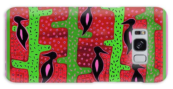 Galaxy Case featuring the digital art Southwest Saguaro Birds by Vagabond Folk Art - Virginia Vivier