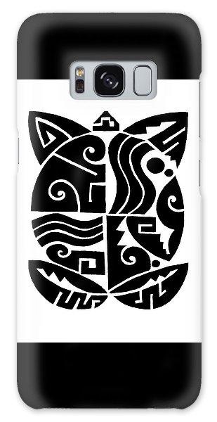 Galaxy Case featuring the digital art Southwest Tribal Tortuga by Vagabond Folk Art - Virginia Vivier