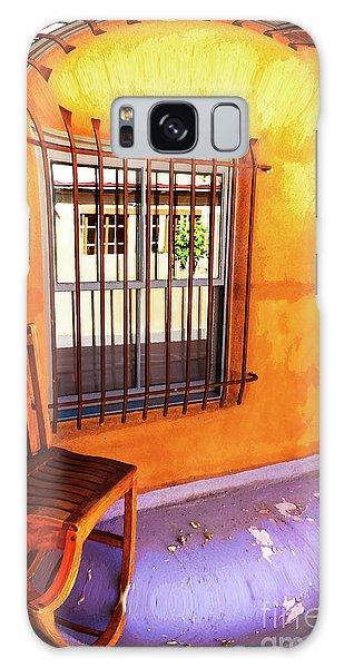 Southwestern Porch Distortion With Puple Floor Galaxy Case