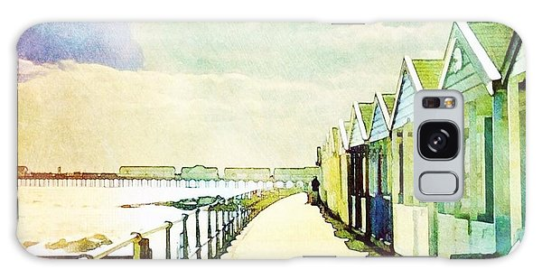Galaxy Case featuring the photograph Southwold Beach Huts by Anne Kotan
