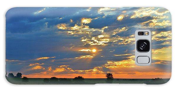 Galaxy Case - Soybean Sunrise by Bonfire Photography