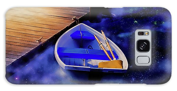 Space Boat Galaxy Case