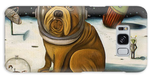 Dog Galaxy S8 Case - Space Crash by Leah Saulnier The Painting Maniac