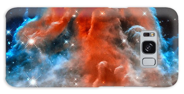 Space Image Horsehead Nebula Orange Red Blue Black Galaxy Case