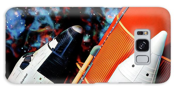Galaxy Case featuring the digital art Space Shuttle by Ray Shiu