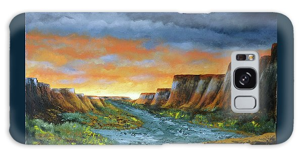 Spanish Broom Canyons Sunset 1of5 Galaxy Case