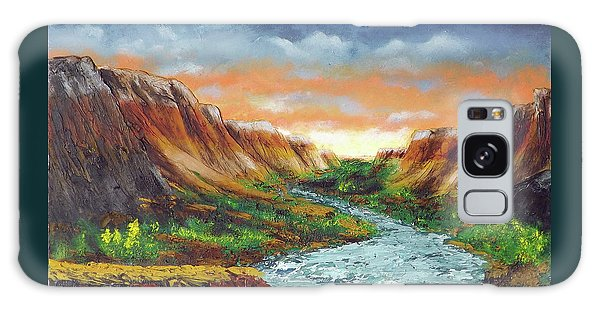 Spanish Broom Canyons Sunset 2of5 Galaxy Case
