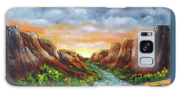 Spanish Broom Canyons Sunset 4of5 Galaxy Case