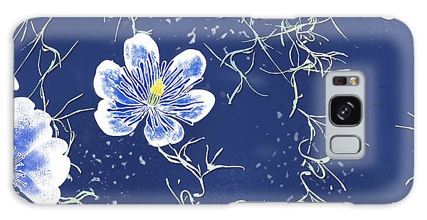 Indigo Batik Tile 4 - Spanish Moss Galaxy Case