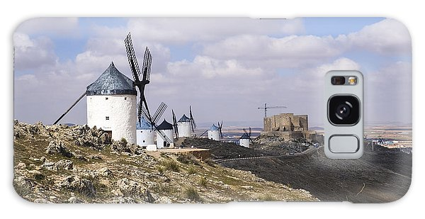Spanish Windmills And Castle Of Consuegra Galaxy Case by Perry Van Munster