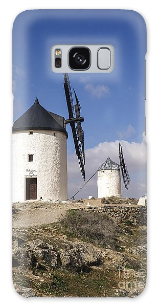 Spanish Windmills In The Province Of Toledo, Galaxy Case by Perry Van Munster