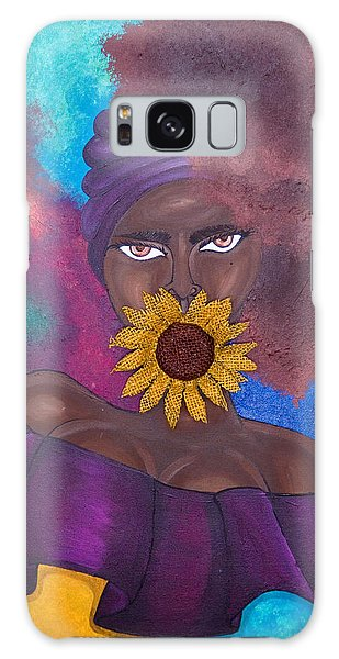 Galaxy Case featuring the painting Speak No Evil by Aliya Michelle