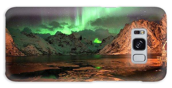Spectacular Night In Lofoten 1 Galaxy Case