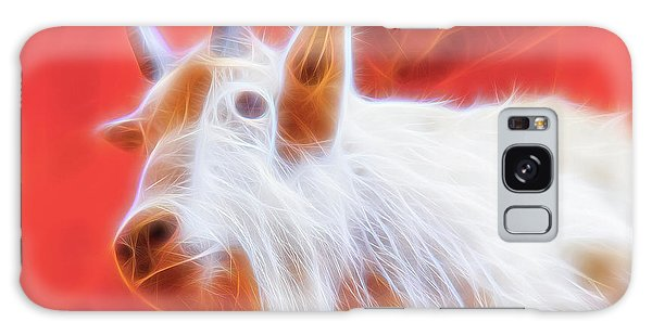 Galaxy Case featuring the digital art Spectral Mountain Goat by Ray Shiu