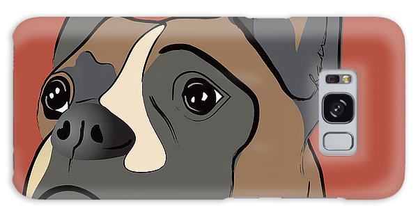 Spencer Boxer Dog Portrait Galaxy Case
