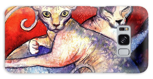 Sphynx Cats Sphinx Family Painting  Galaxy Case