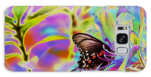 Spicebush Swallowtail Butterfly Solorize Galaxy Case by Donna Brown