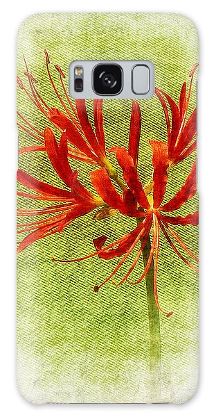 Spider Lily Galaxy Case by Judi Bagwell