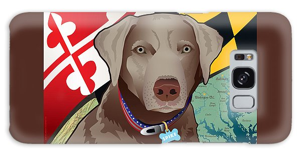 Spike, The Maryland Silver Lab Galaxy Case