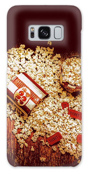 Pass Galaxy Case - Spilt Tubs Of Popcorn And Movie Tickets by Jorgo Photography - Wall Art Gallery