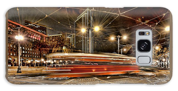 Spinning Trolley Car Galaxy Case by Steve Siri
