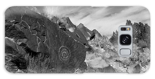 Spiral Petroglyph Galaxy Case