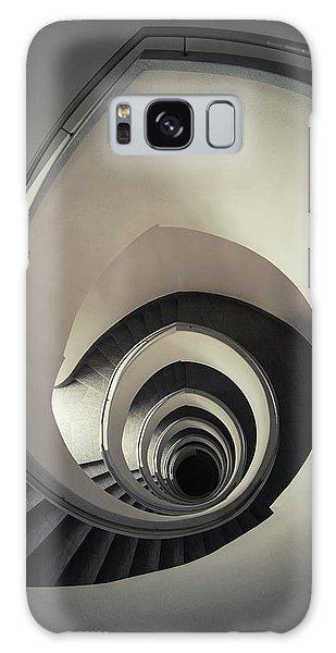 Spiral Staircase In Beige Tones Galaxy Case by Jaroslaw Blaminsky