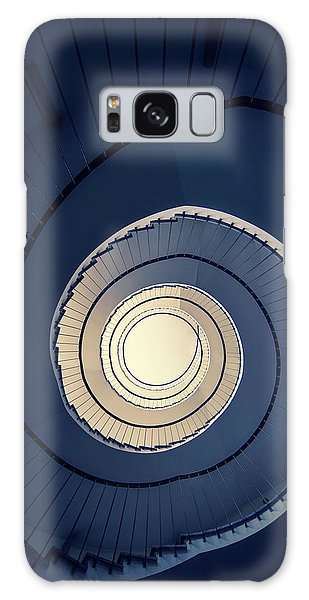 Spiral Staircase In Blue And Cream Tones Galaxy Case by Jaroslaw Blaminsky