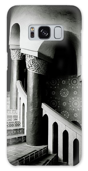 Spiral Stairs- Black And White Photo By Linda Woods Galaxy Case by Linda Woods