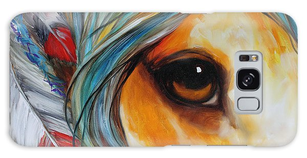 Spirit Eye Indian War Horse Galaxy Case